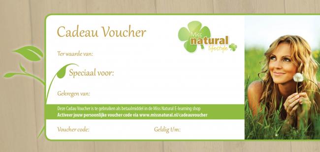46f8814cfbd Kortom, met een cadeau voucher van Miss Natural geef je jouw vriend of  vriendin de mogelijkheid om vanuit huis nieuwe kennis op te doen en stap  voor stap te ...